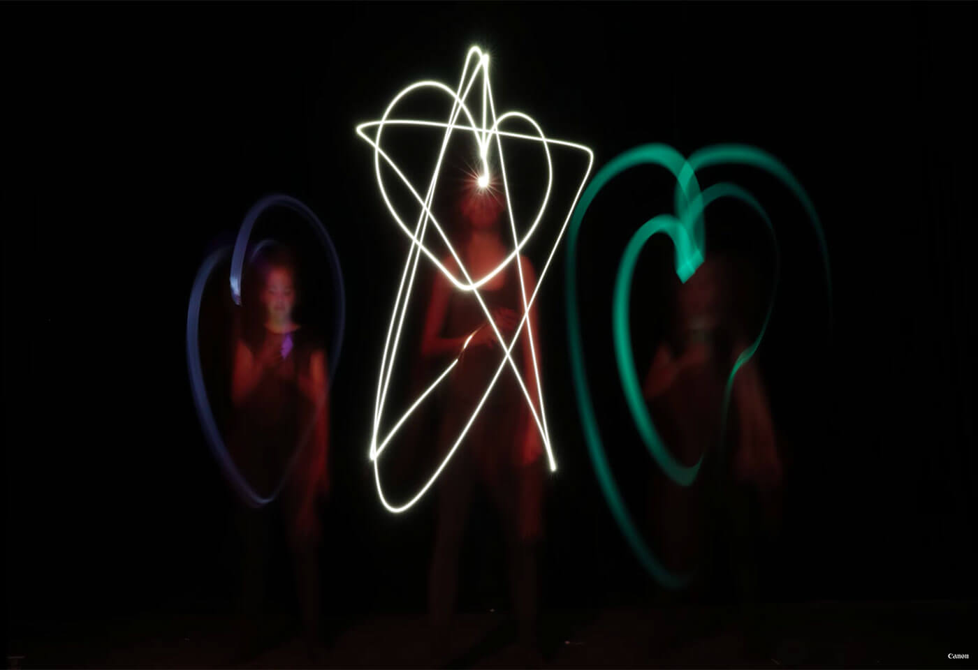 Light painting with a smartphone