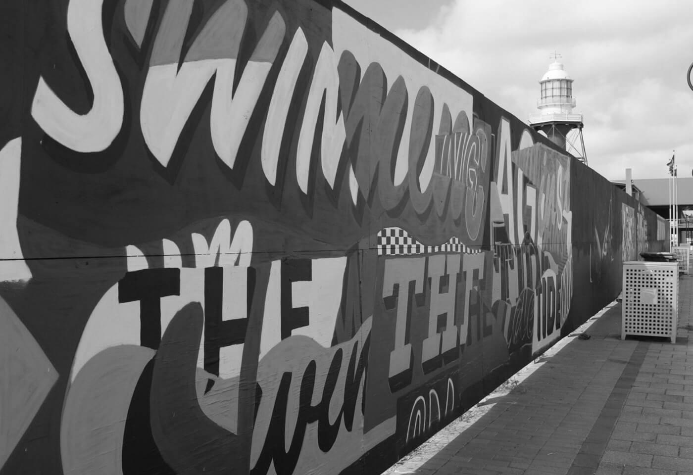 Landscape image of street art