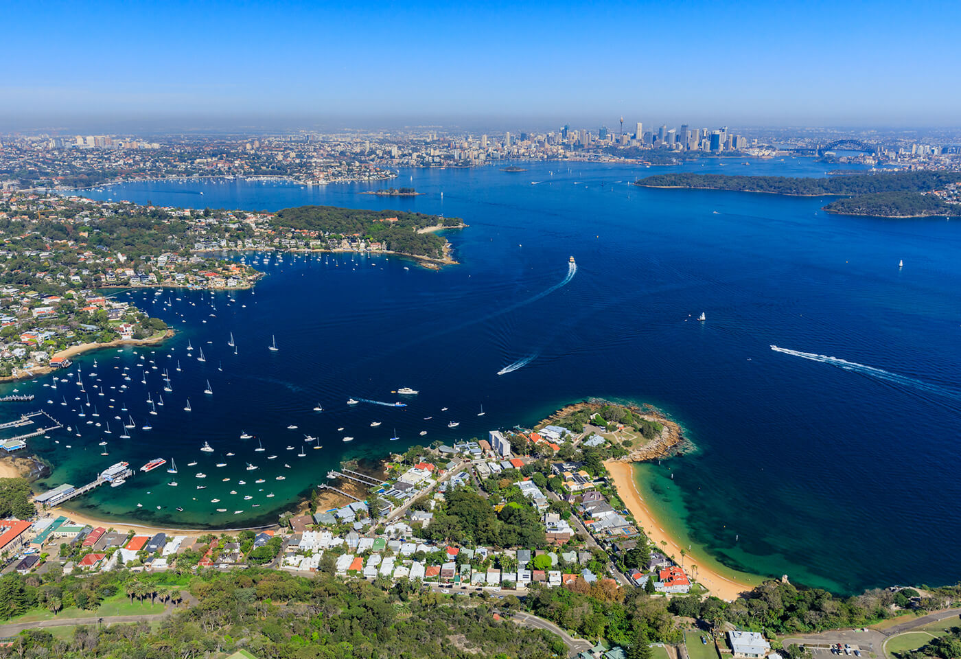 Aerial image of Sydney Harbour