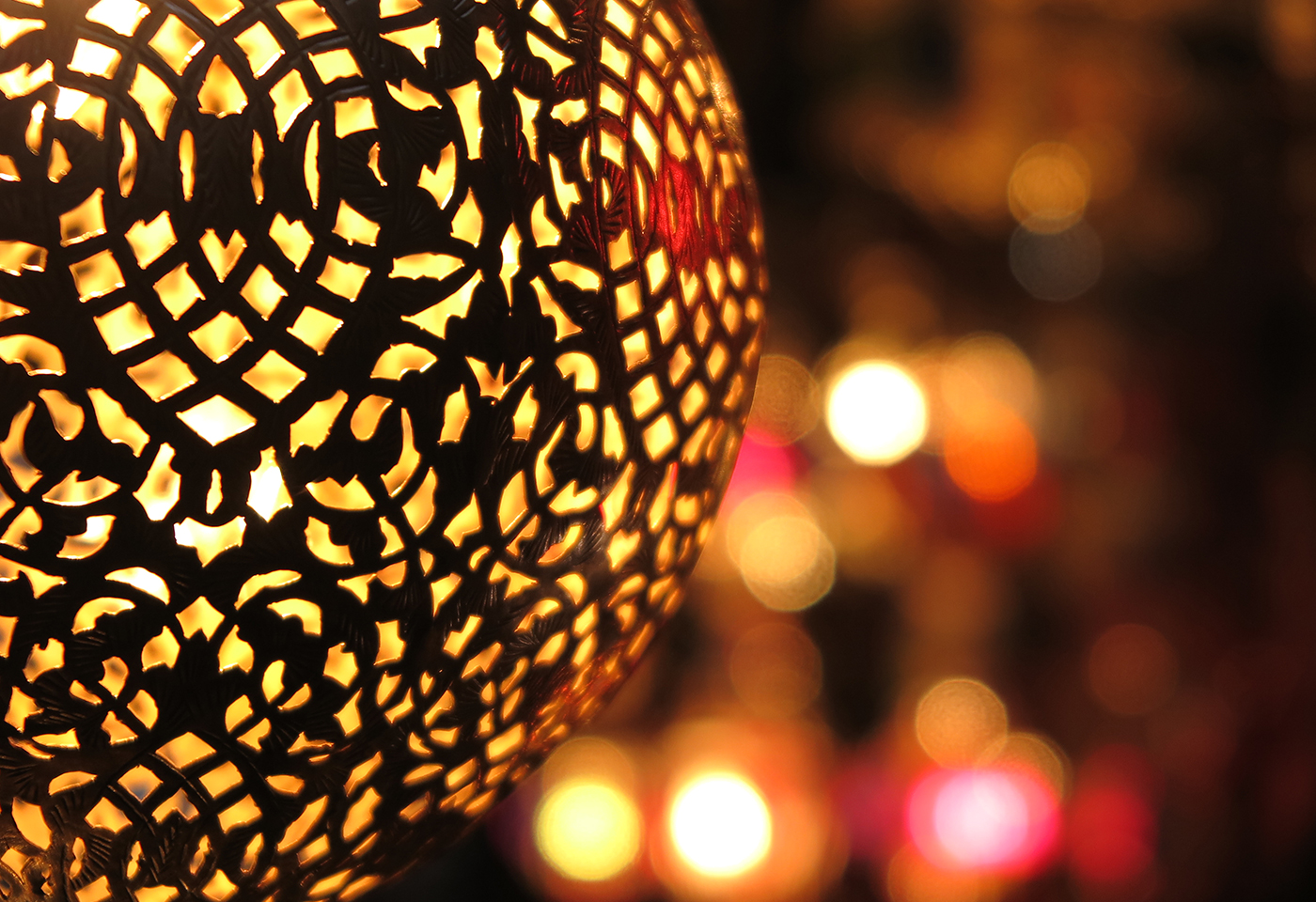 Decorative light, with background bokeh