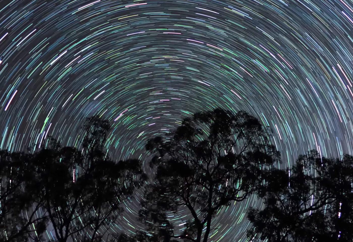 Star light trail