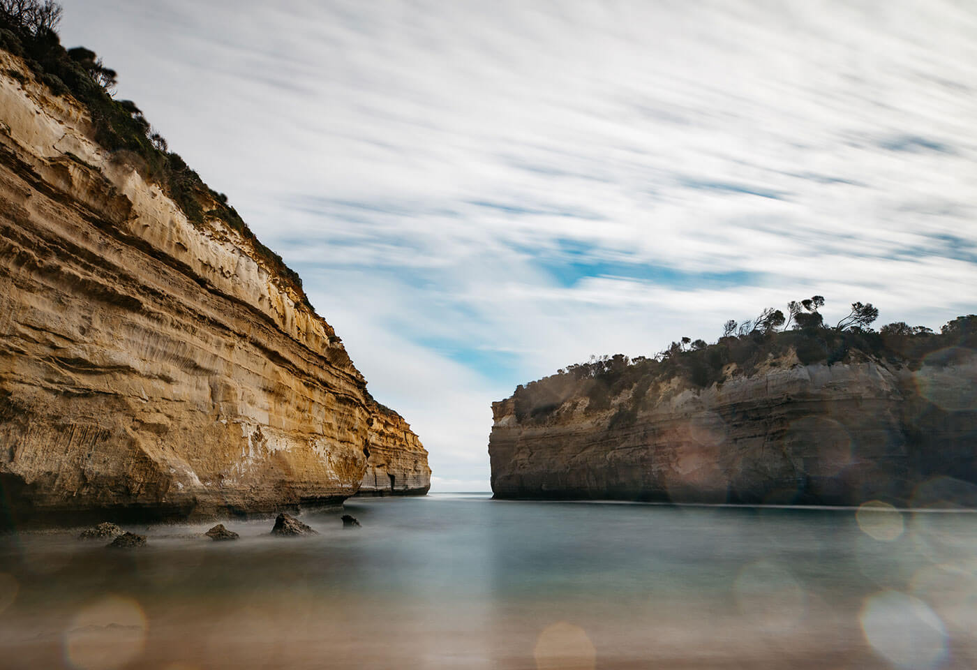 Long exposure photo at Great Ocean Road