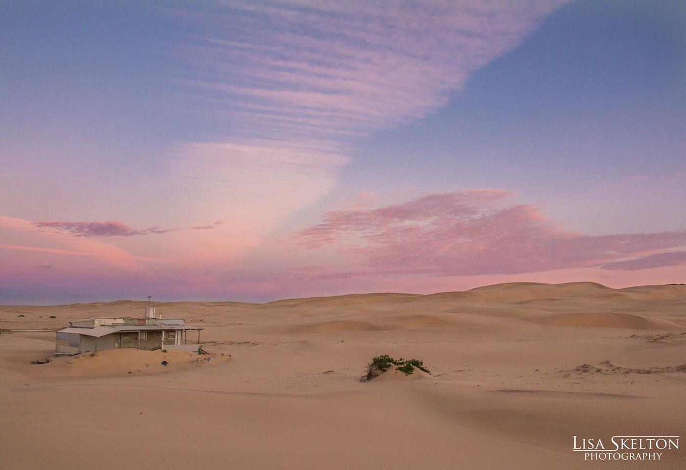 Landscape image of sand dunes
