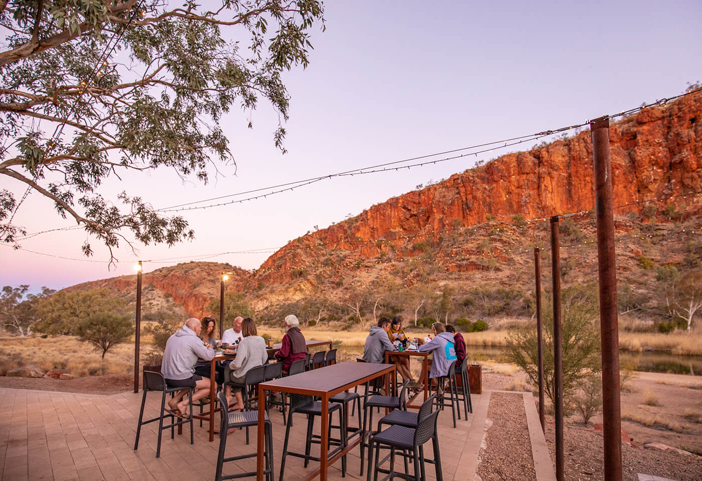West Macdonnell Ranges at Glen Helen, Alice Springs by Greg Sullavan