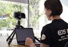 Jenn Cooper using the EOS Webcam Utility