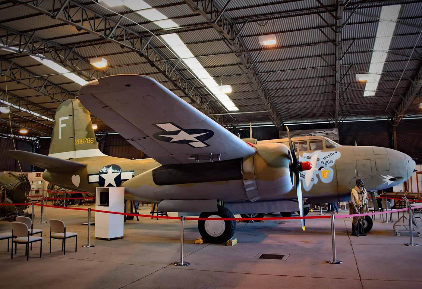 hangars at the RAAF base at Amberley