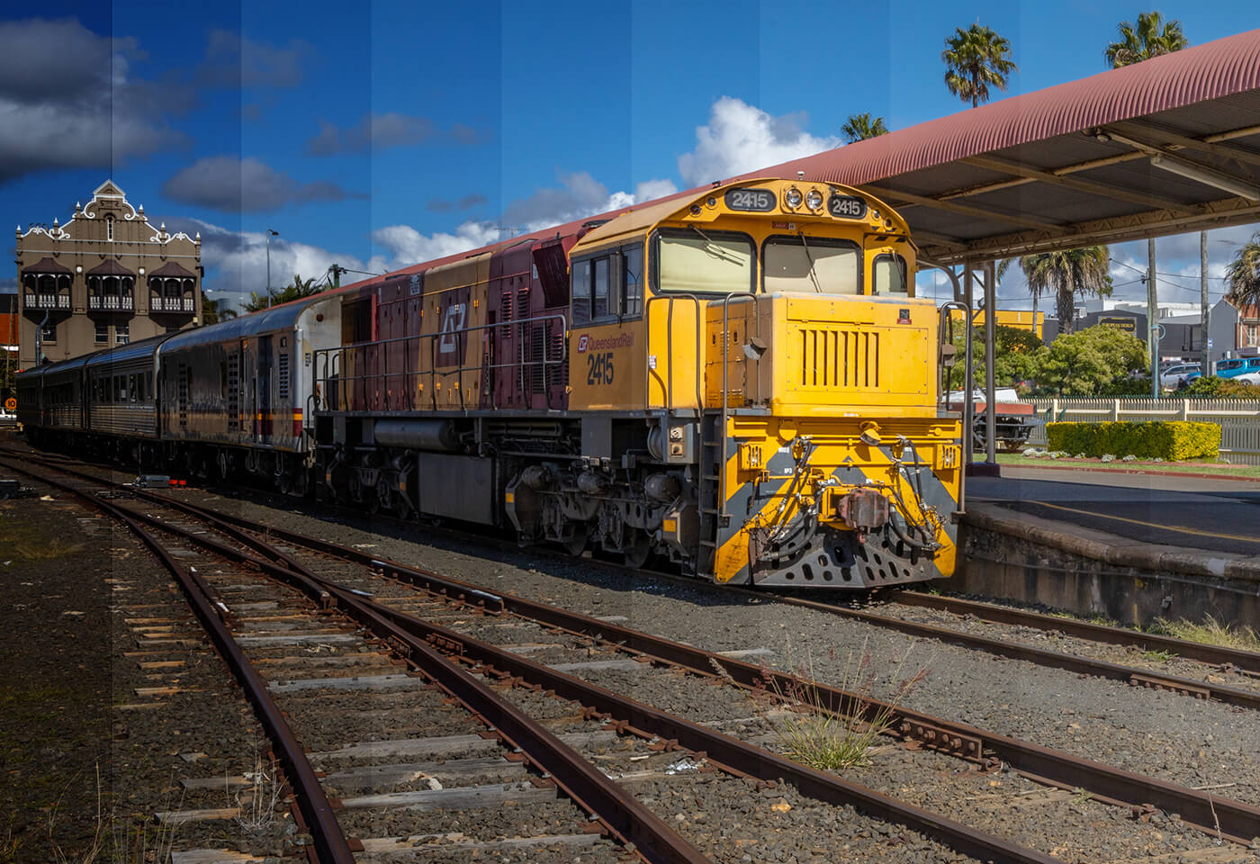 Timelapse photo of a train by Greg Sullavan