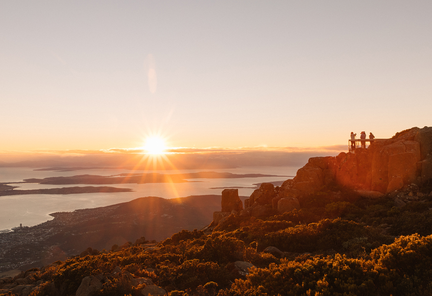 Sunrise photography at Mt Wellington by Neal Walters