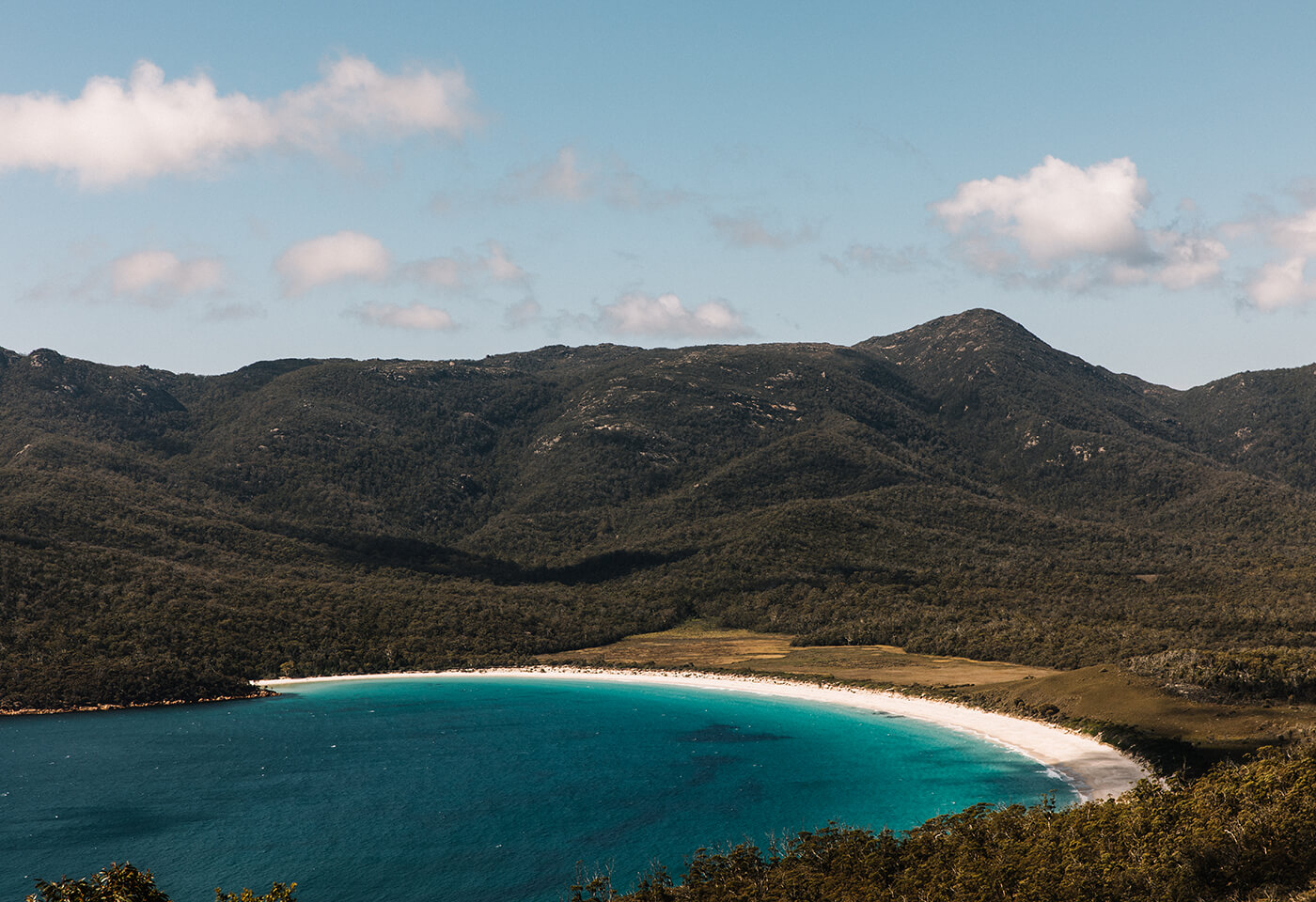 Aerial image of Wine Glass Bay