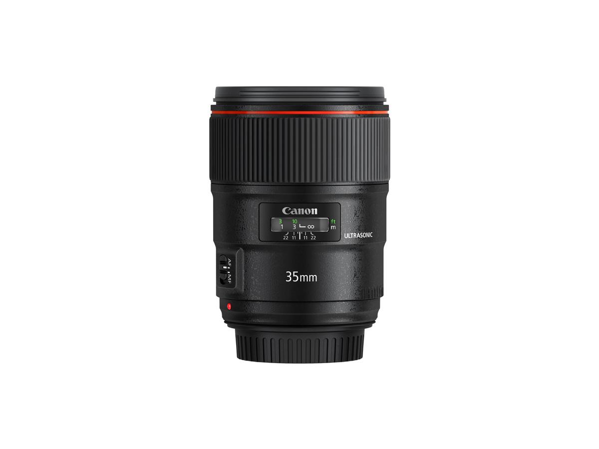 Side view of Canon EF 35mm f/1.4L II USM lens