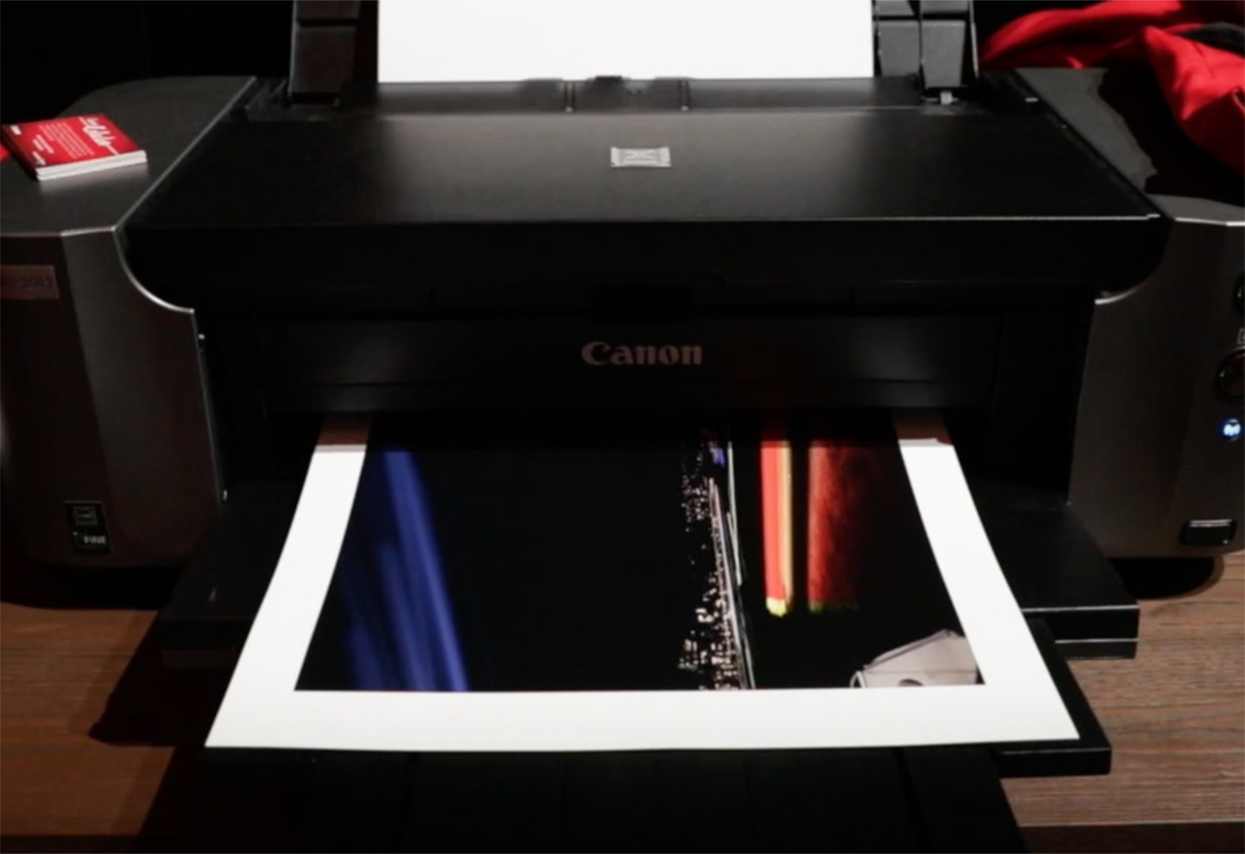 image of Canon printer printing