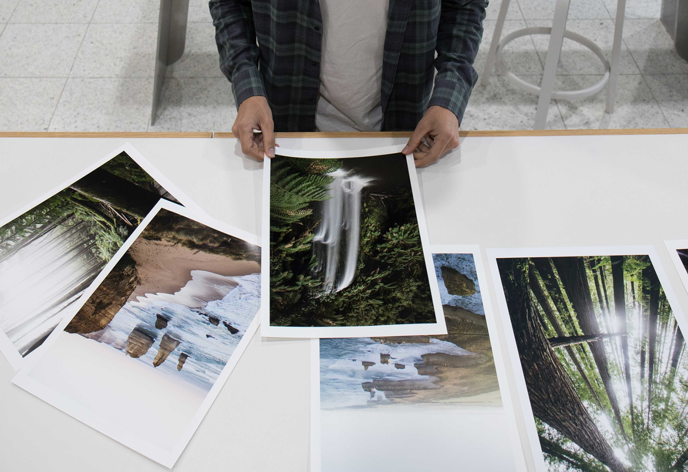 Photo of print outs by Kirk Richard