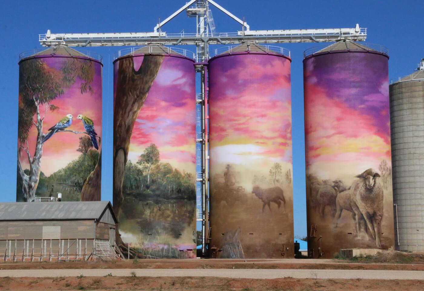 GrainCorp silos art