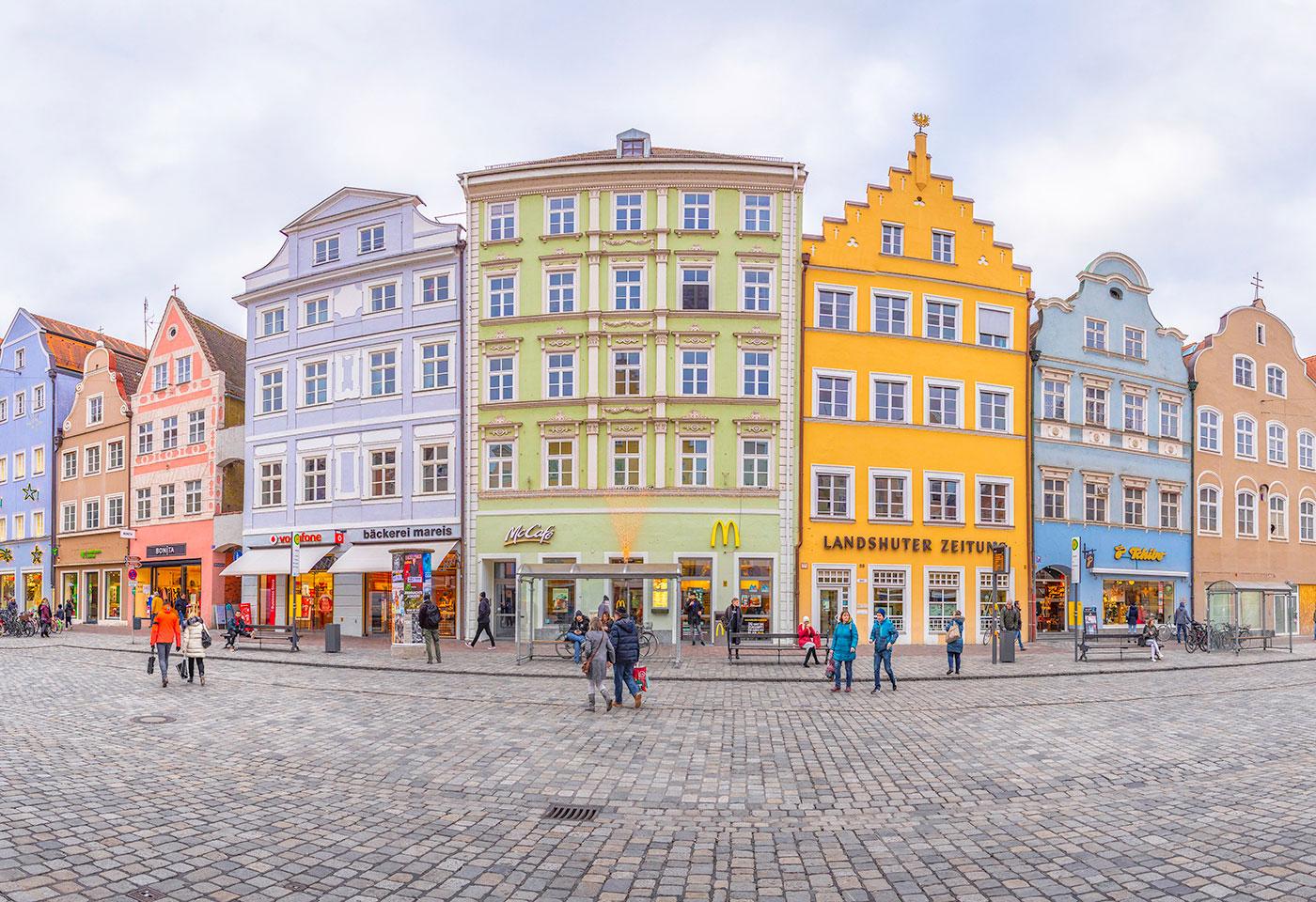Colourful establishments