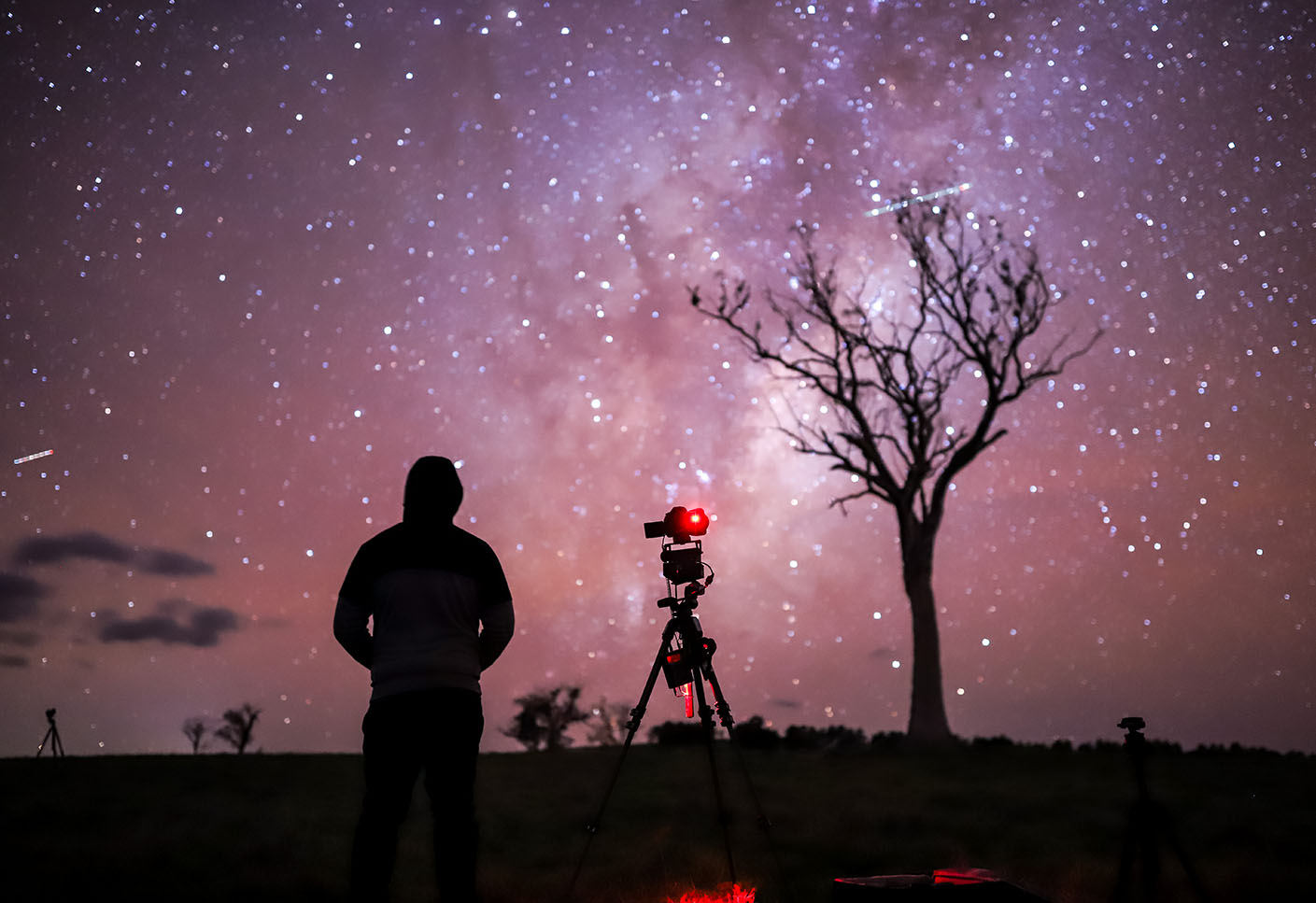 Behind the scenes photo of an astro time-lapse with Matt Vandeputte