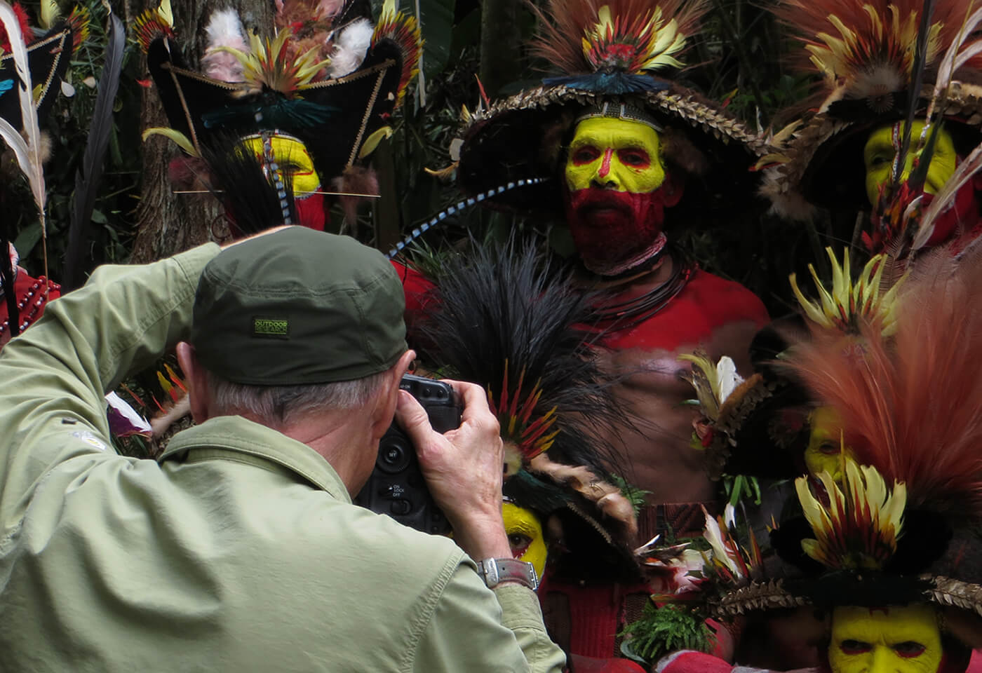 photographing the huli clan