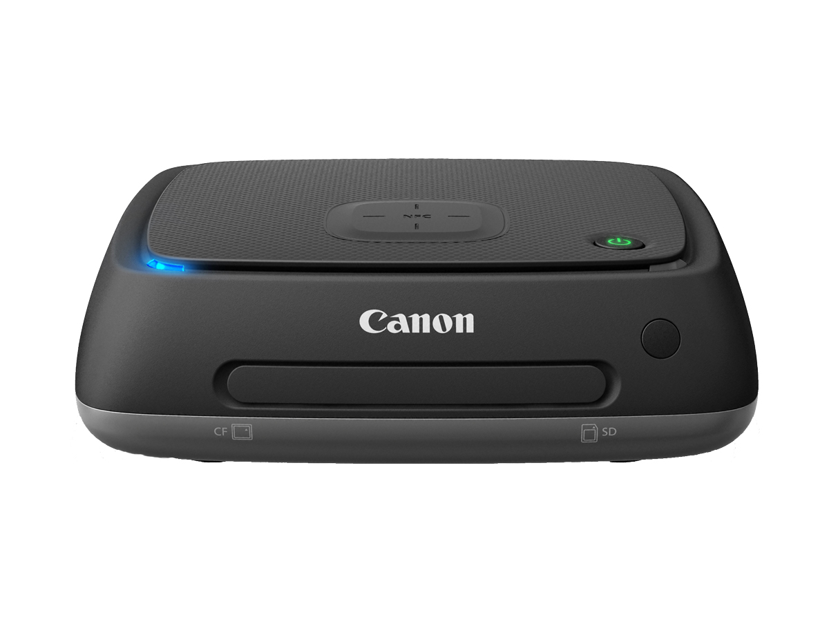 Canon Connect Station CS100 unit and remote top angled
