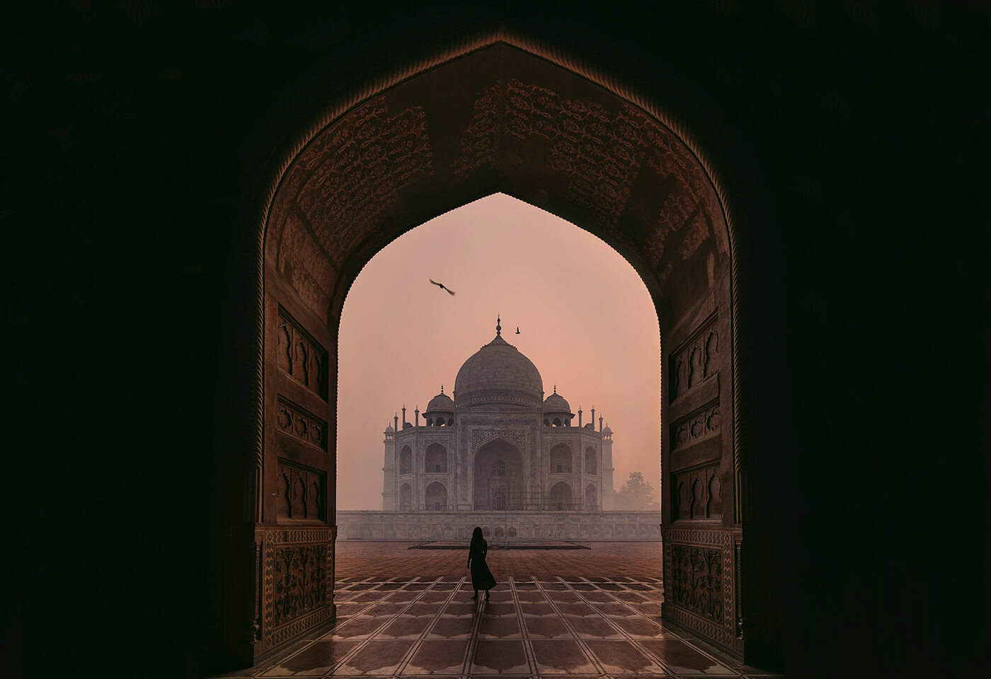 Landscape image of Taj Mahal