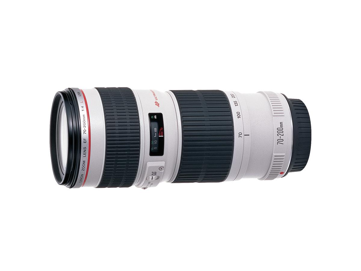 Side view of Canon EF 70-200mm f/4L USM lens