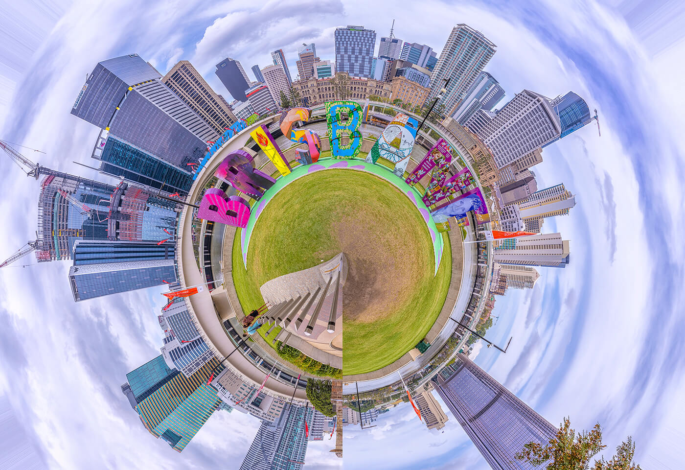 Image of Little World Brisbane Sign by Greg Sullavan