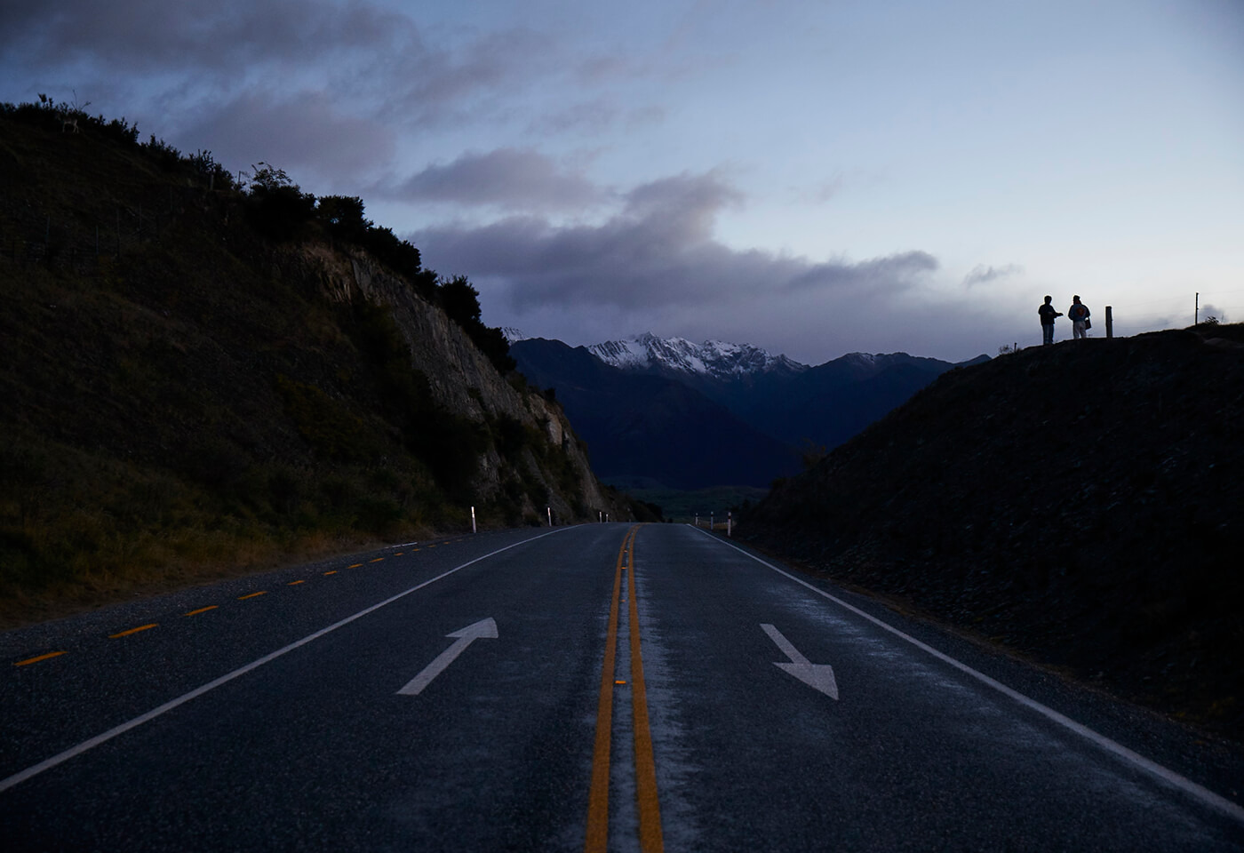 Landscape image of road and mountains in Wanaka
