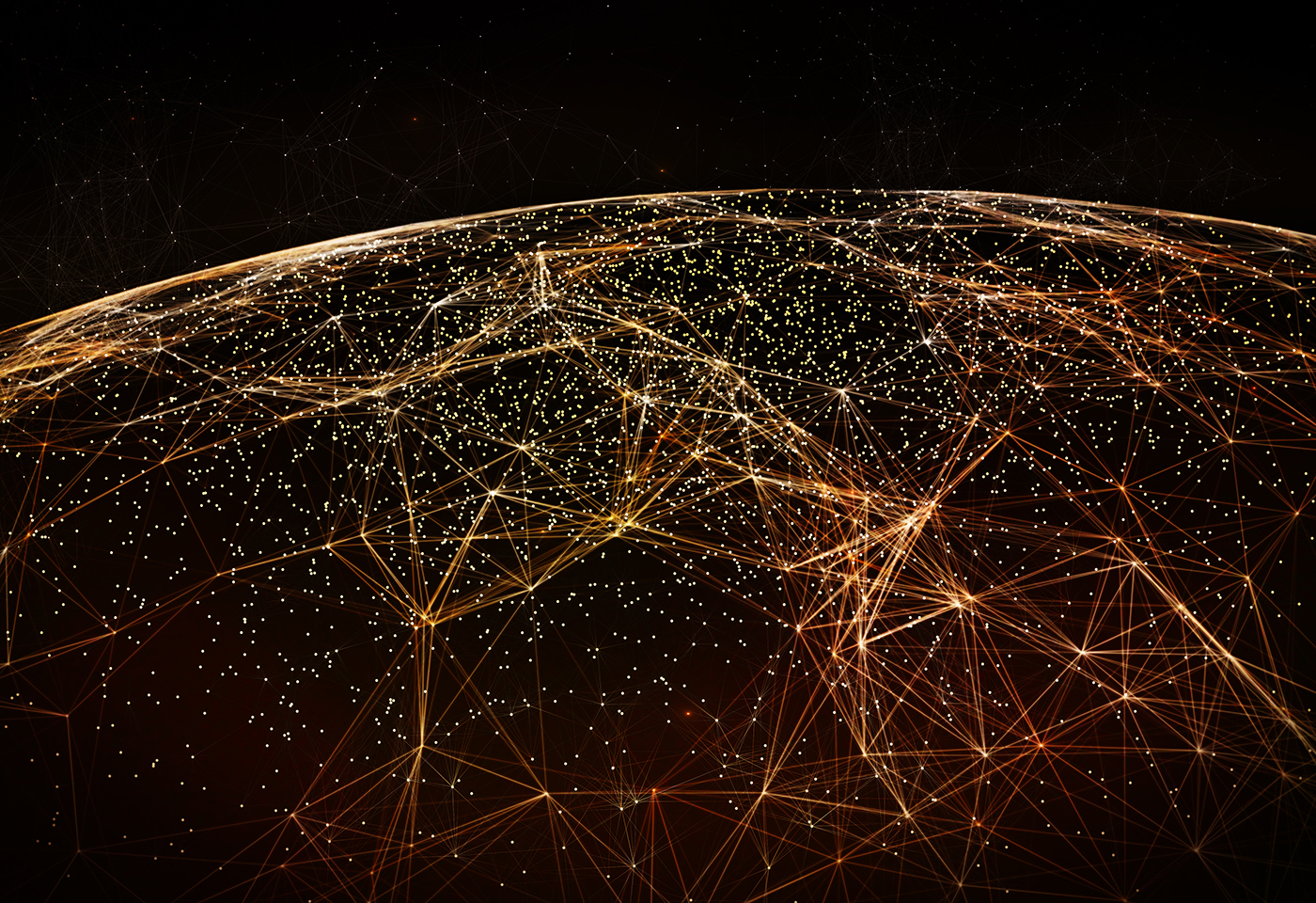 Data connectivity in the world at night