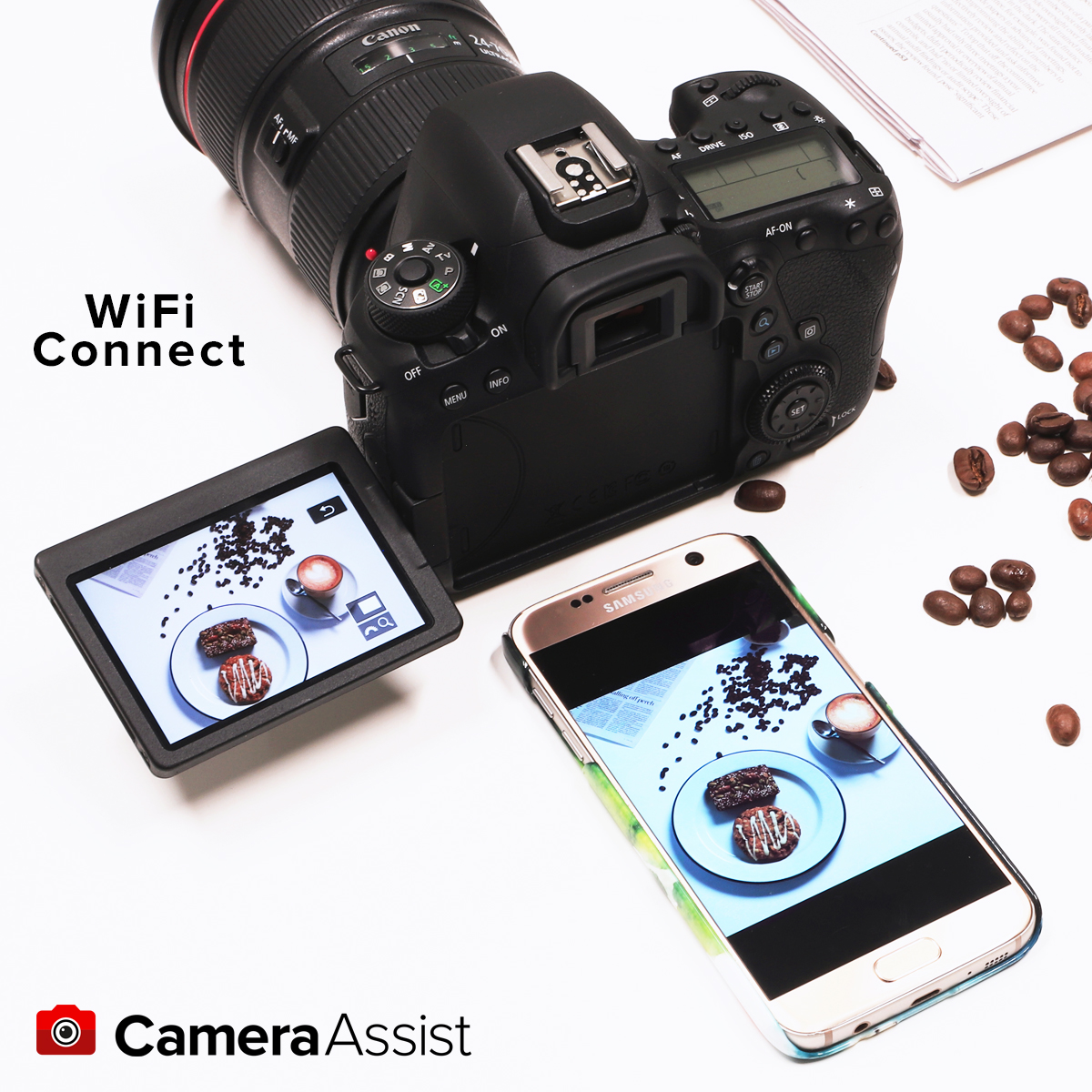 Promo image of Canon connect app