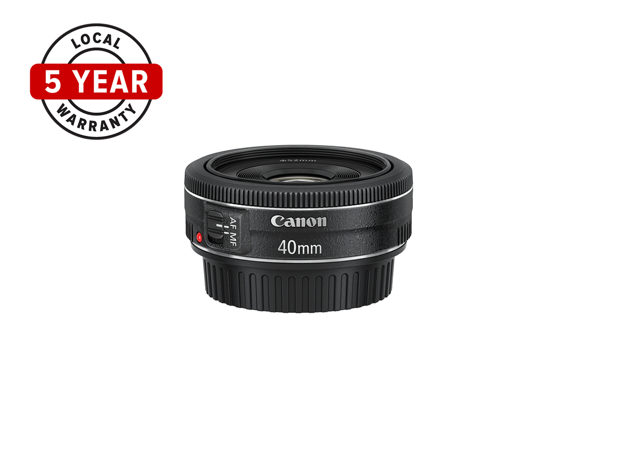 Side view of Canon EF 40mm f/2.8 STM lens