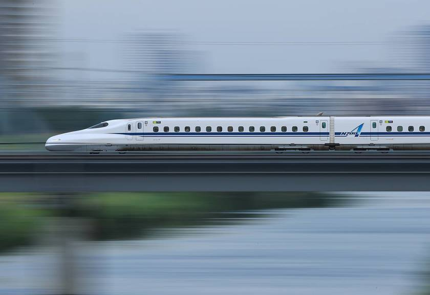 Photo of bullet train taken with EF 400mm f/2.8L IS III USM Lens