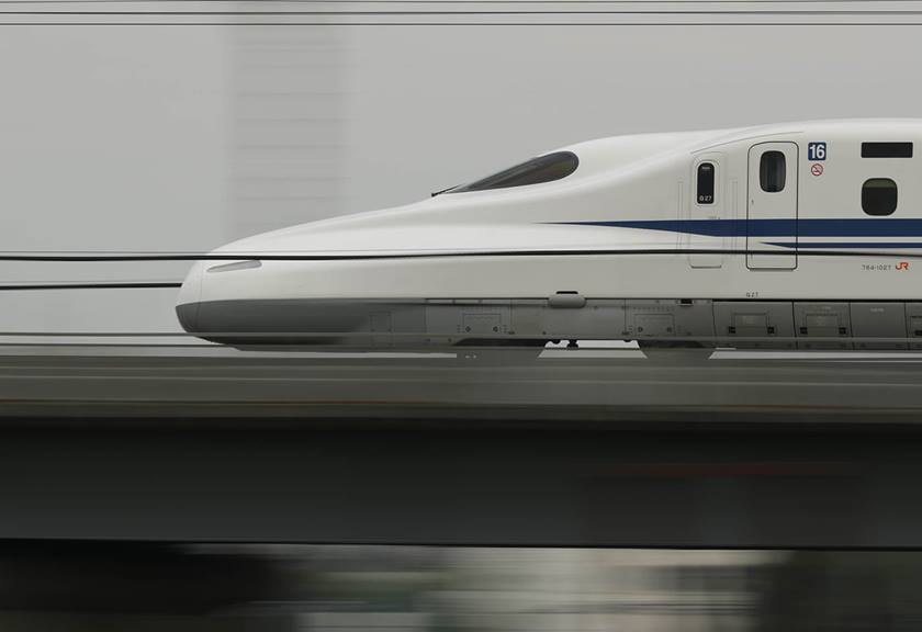 Photograph of bullet train taken with EF 600mm f/4L IS III USM Lens
