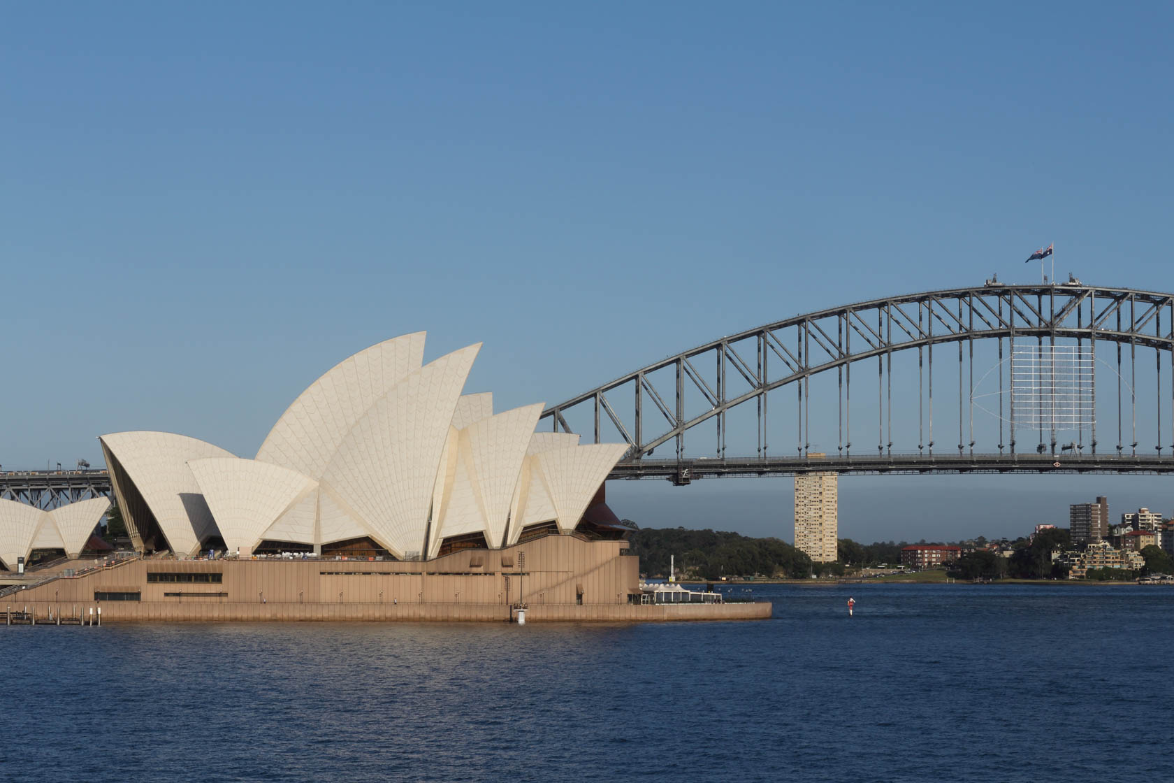 Sydney Opera House and Sydney Harbour Bridge taken with Canon EF-M 55-200 IS STM lens