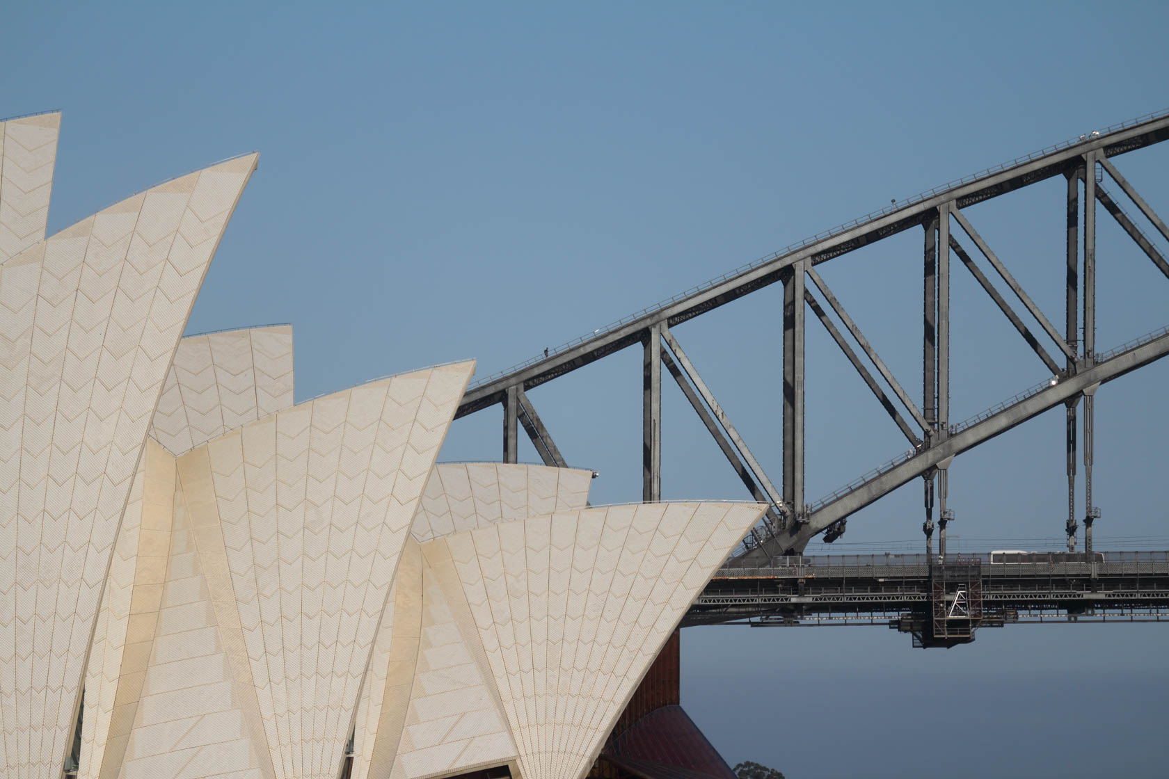 Close-up of Sydney Opera House sails taken with Canon EF-M 55-200 IS STM lens