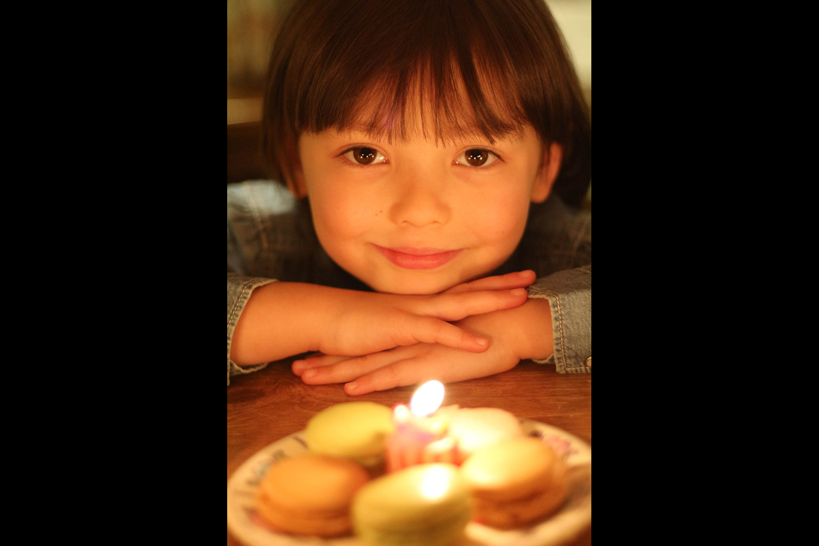 Girl and birthday candle taken on Canon EOD100D DSLR camera