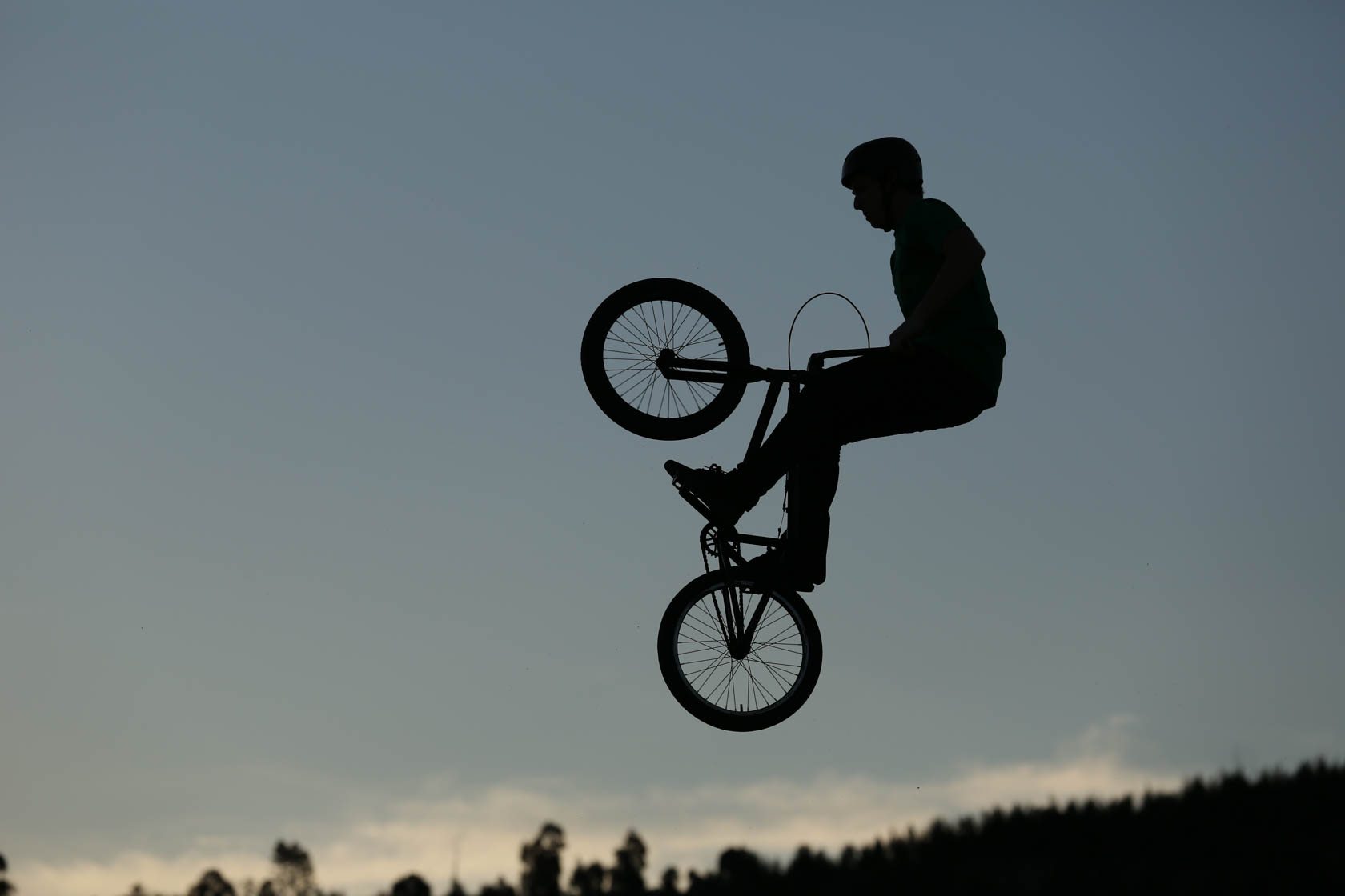 Silhouette of BMX rider taken on Canon EOS 5D Mark III DSLR camera