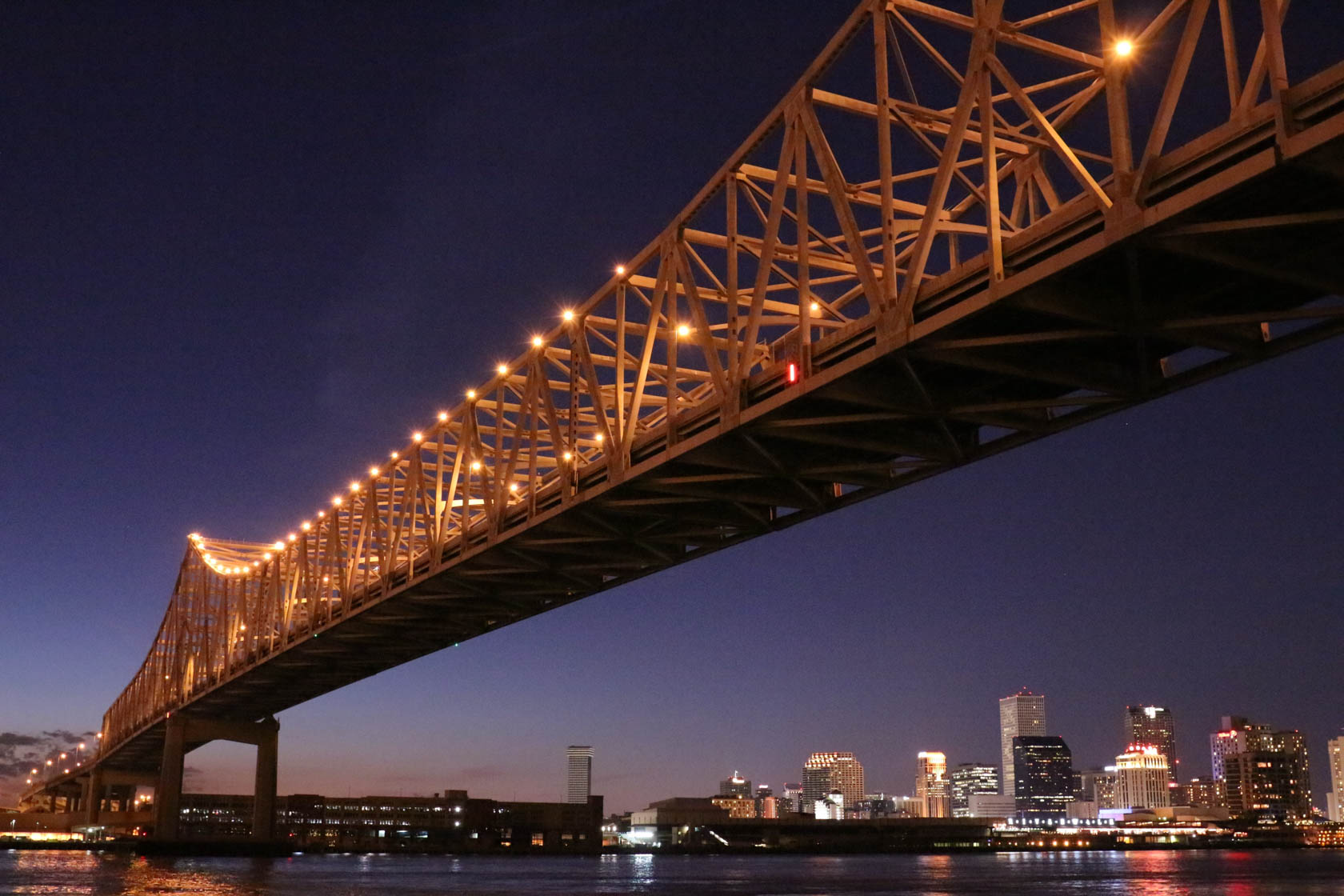 Bridge at night taken with Canon EOS 700D DSLR camera