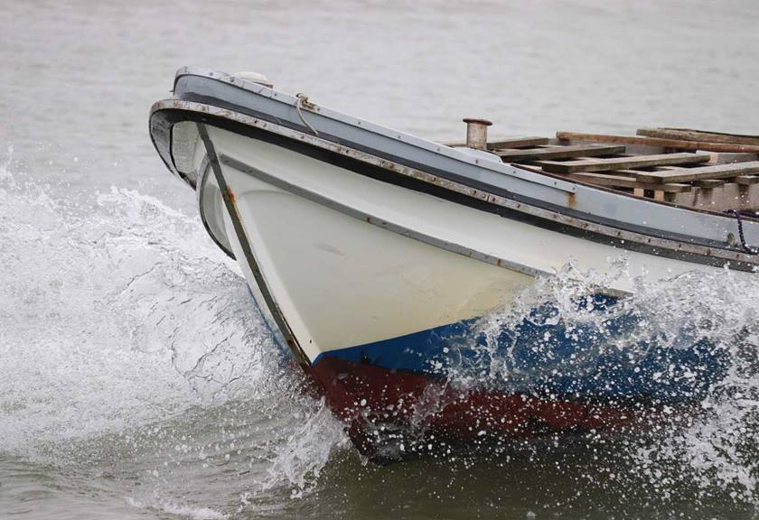 Boat with splashing
