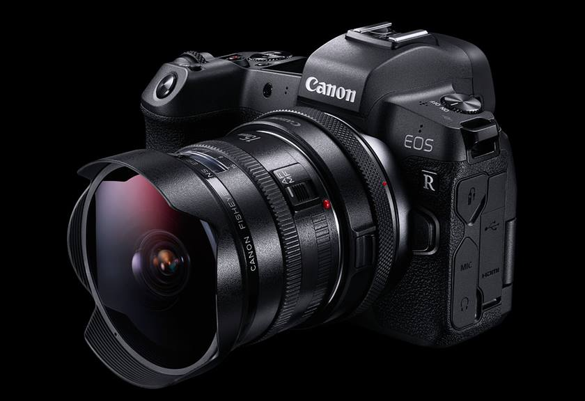 Canon EOS R, Control Ring Mount Adapter EF-EOS R and lens