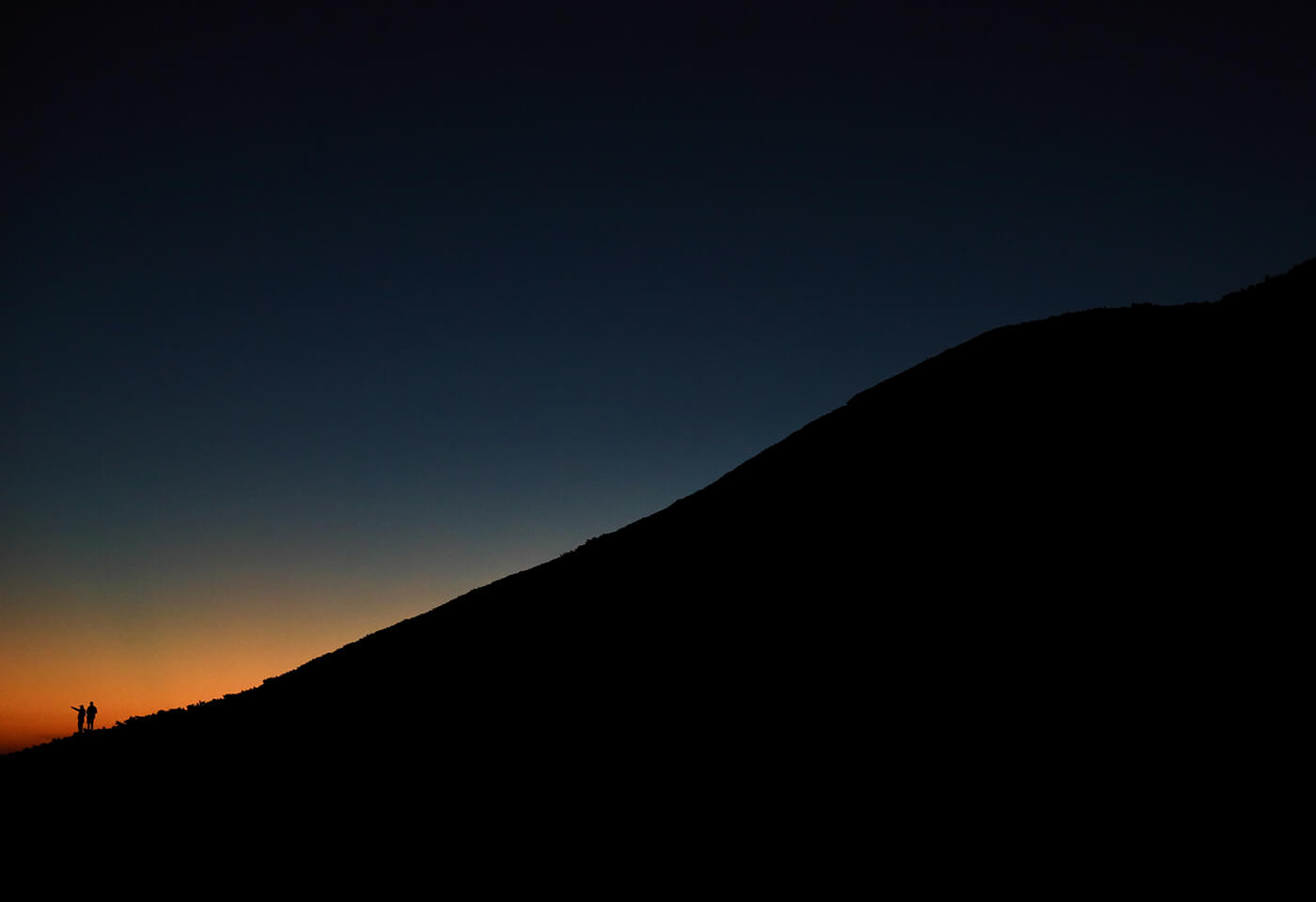Photograph of hill at sunset taken using RF 28-70mm f/2L USM