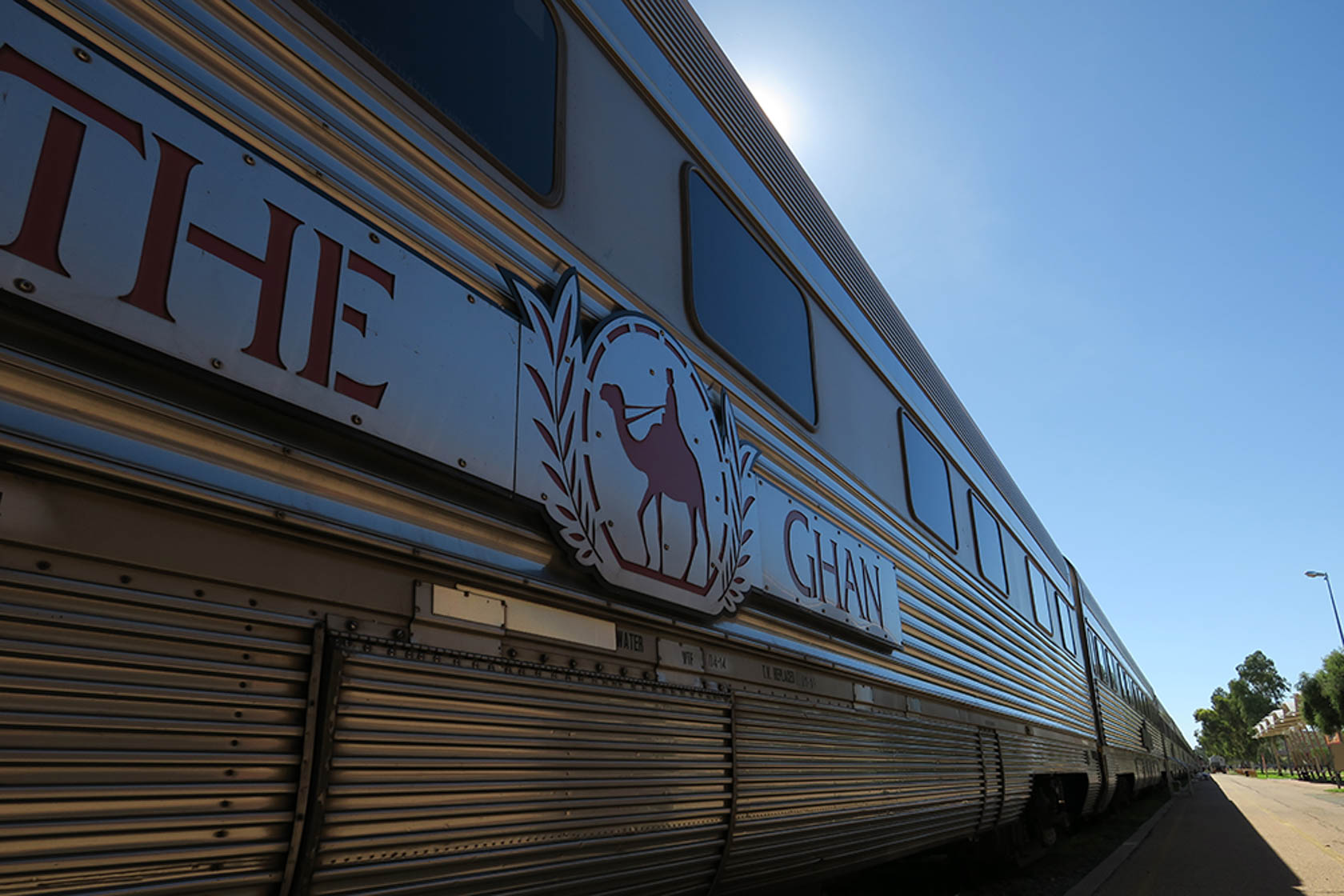 The Ghan train shot on the PowerShot G3 X