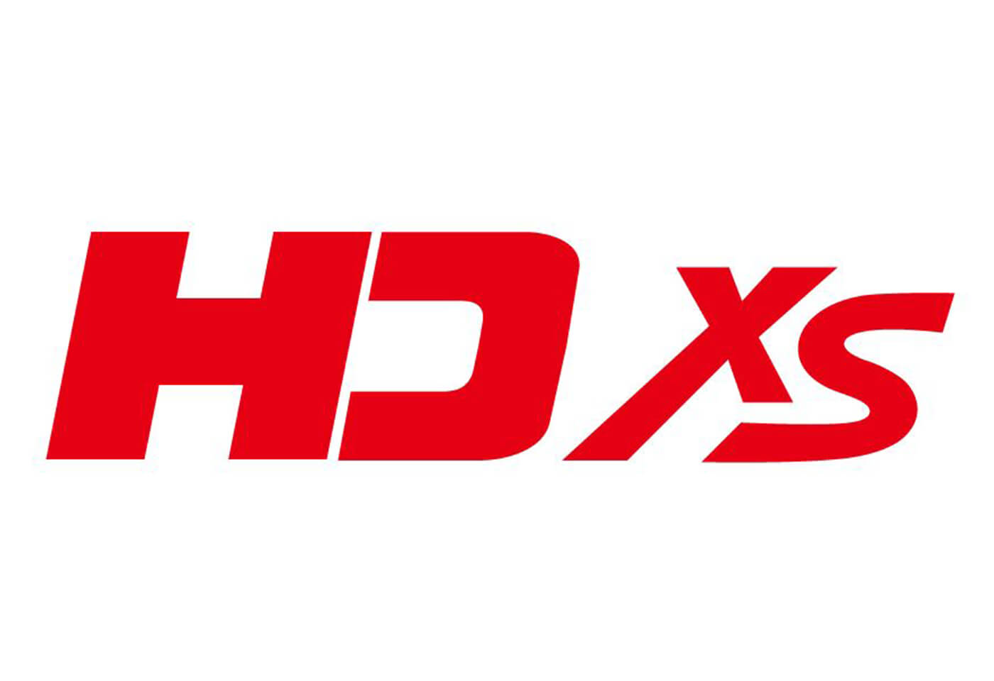 HD XS lens logo red
