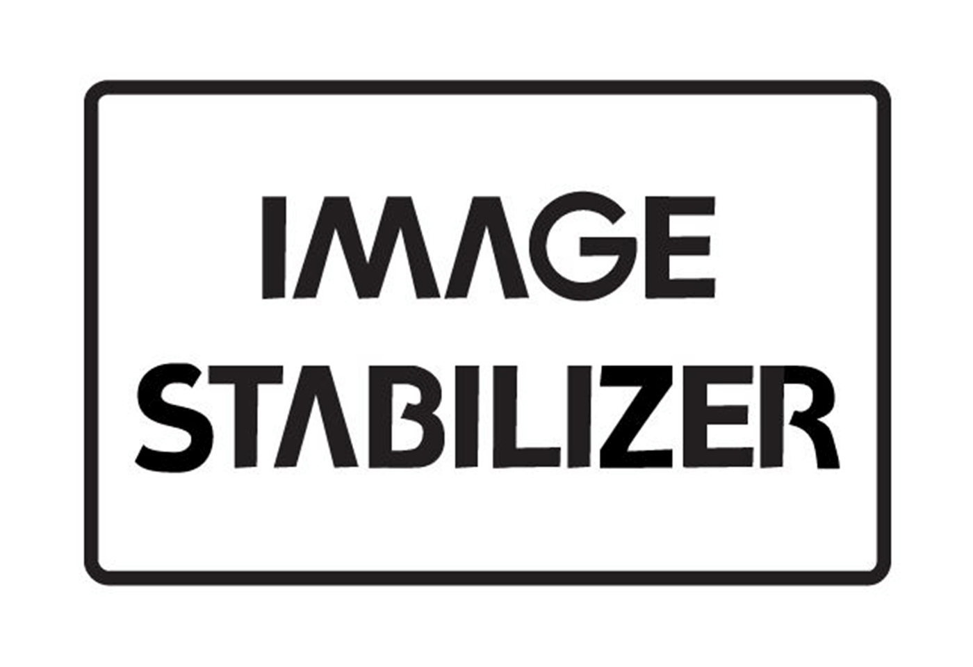 IMAGE STABILIZER log black