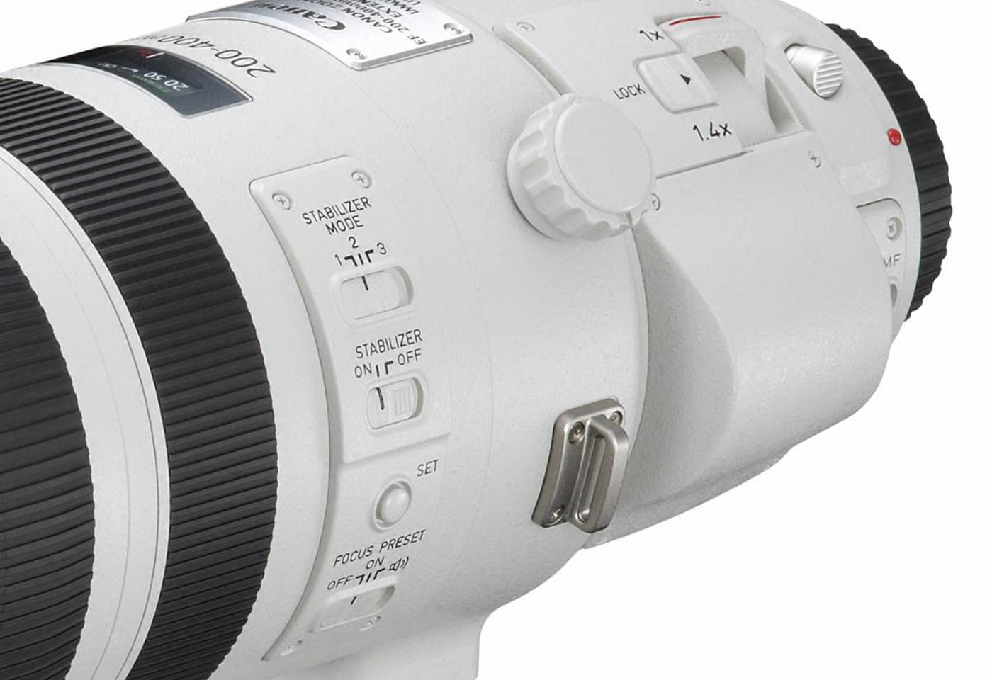 Close up of Canon EF 200-400mm f4 USM Extender lens