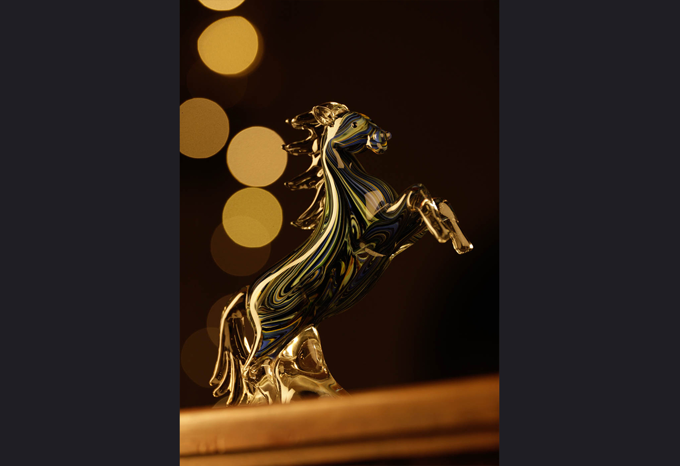 Close up of miniature horse ornament
