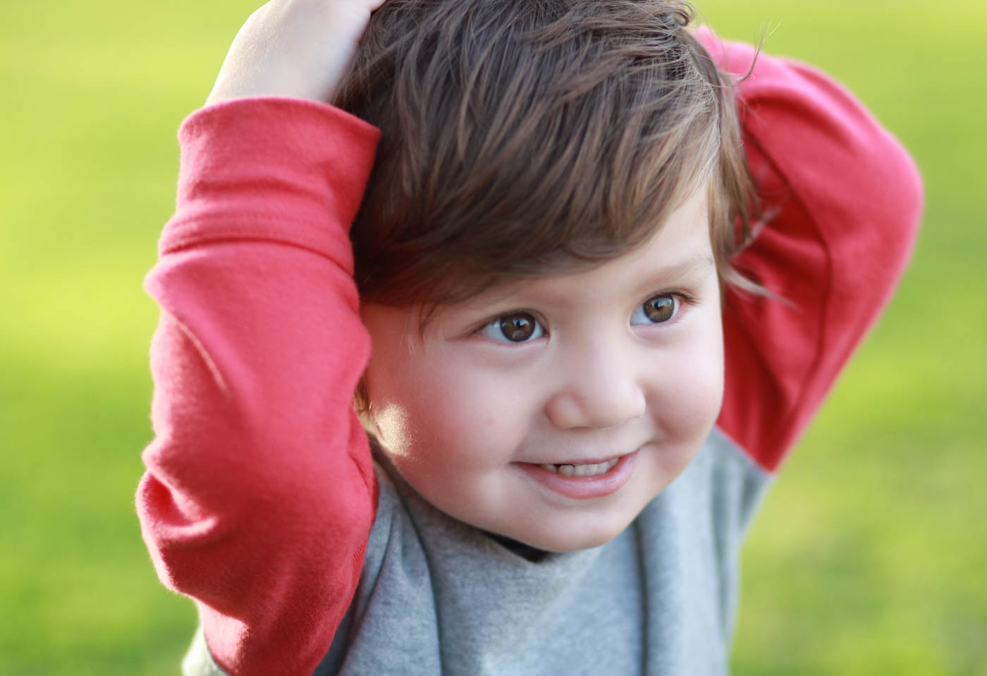 Smiling child taken with Canon EOS 1300D DSLR camera