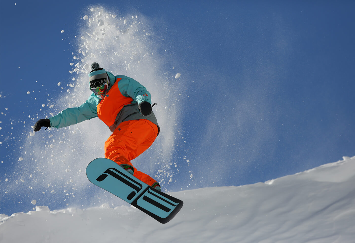Snowboarder on mountain