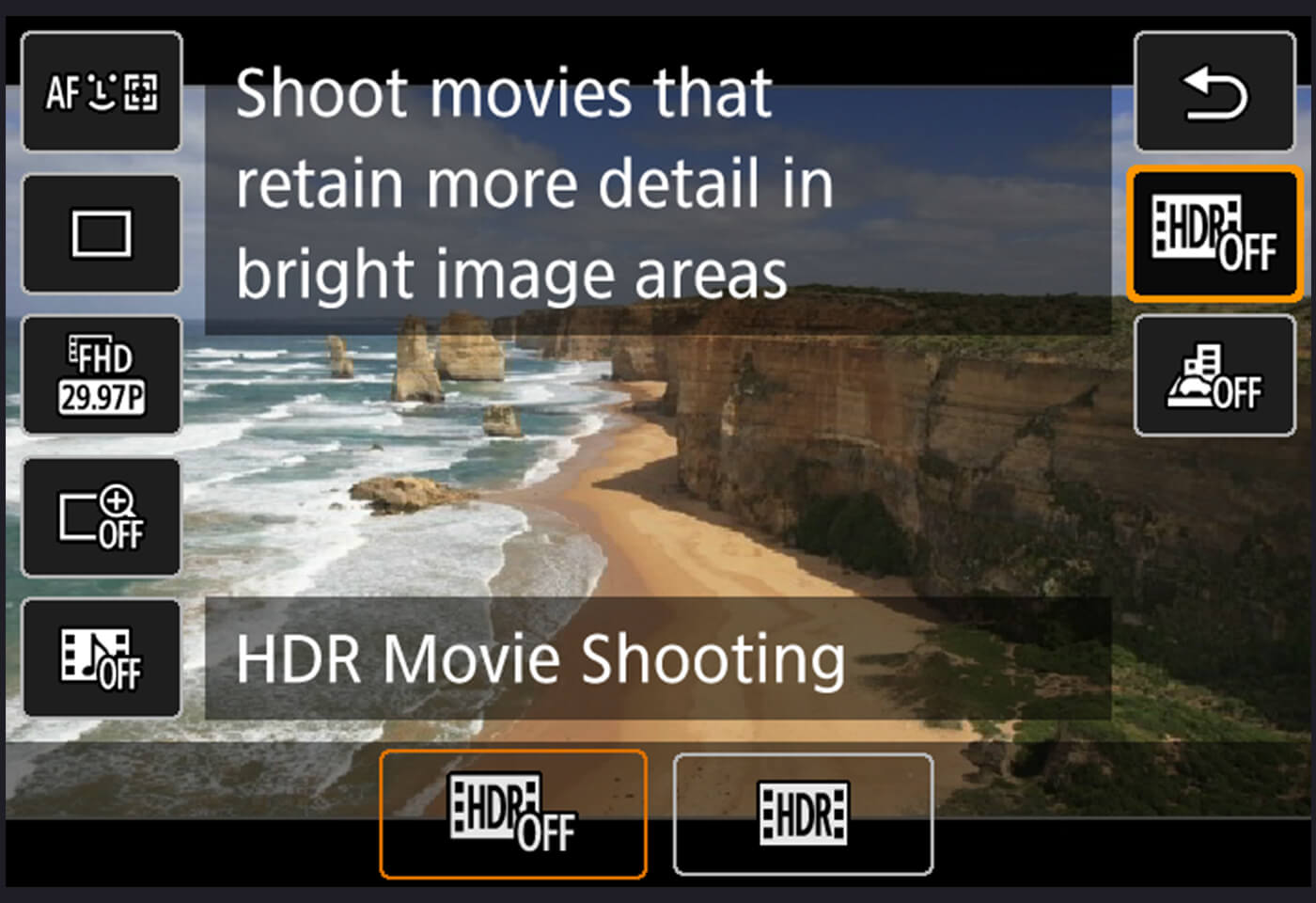 HDR movie EOS 760D