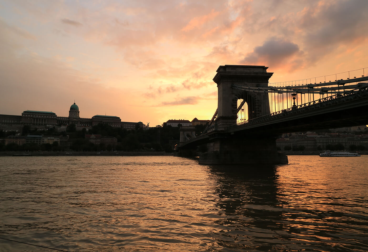Bridge at sunset taken by Canon EOS M3 compact camera