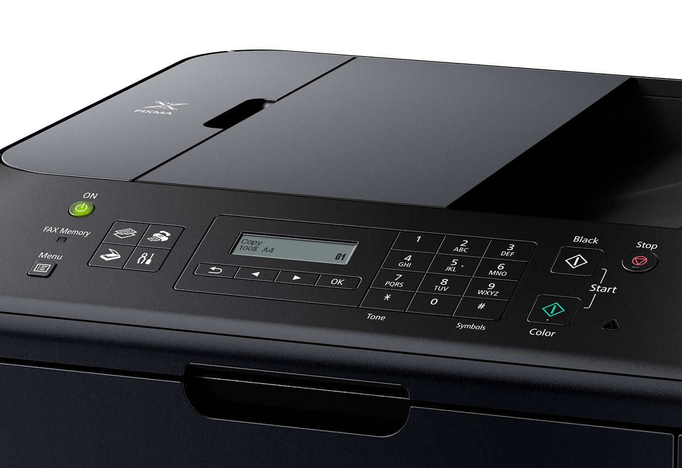 close up of the screen of a MAXIFY printer