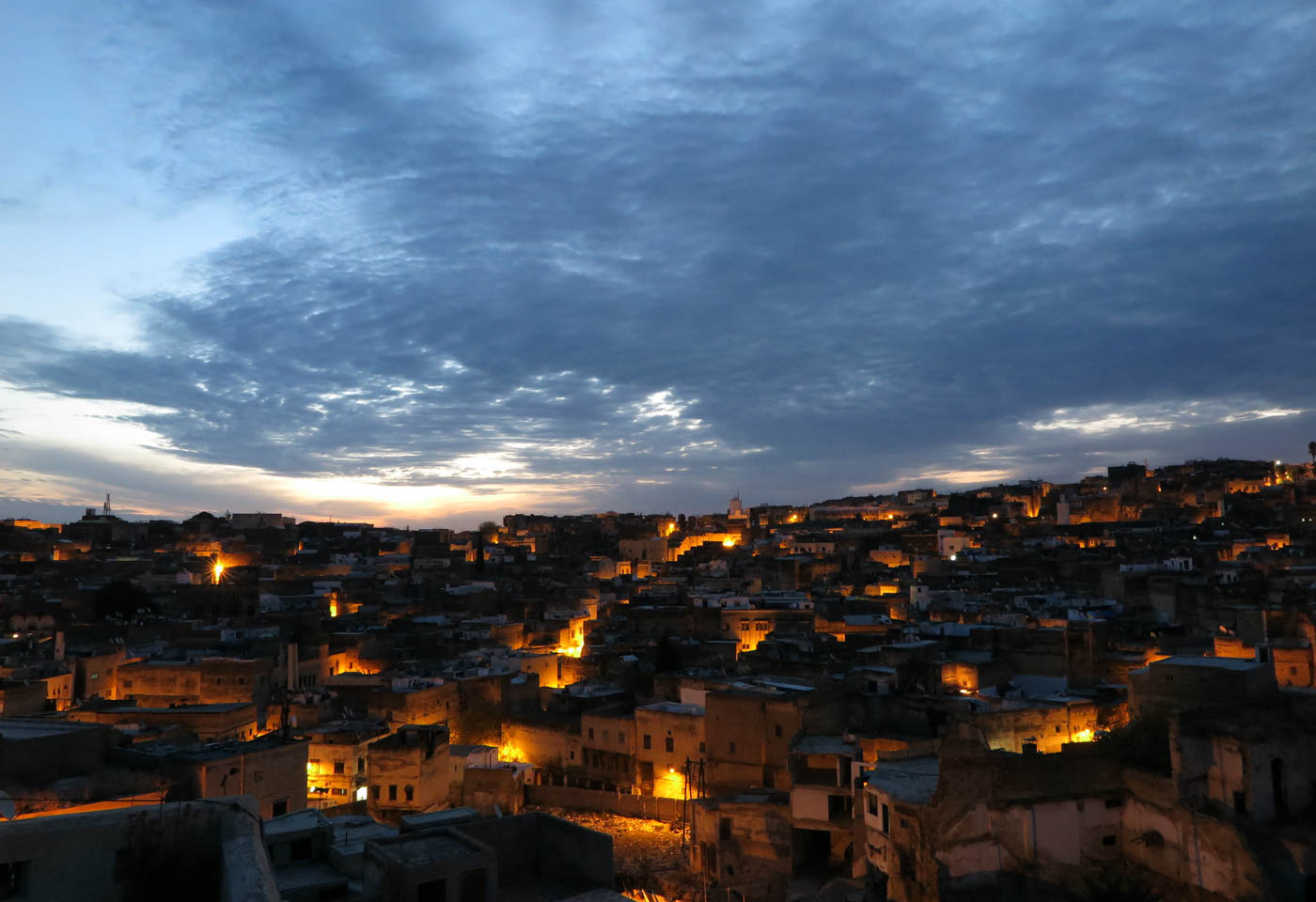 Town at sunset, taken with the Canon PowerShot G1X Mark II camera