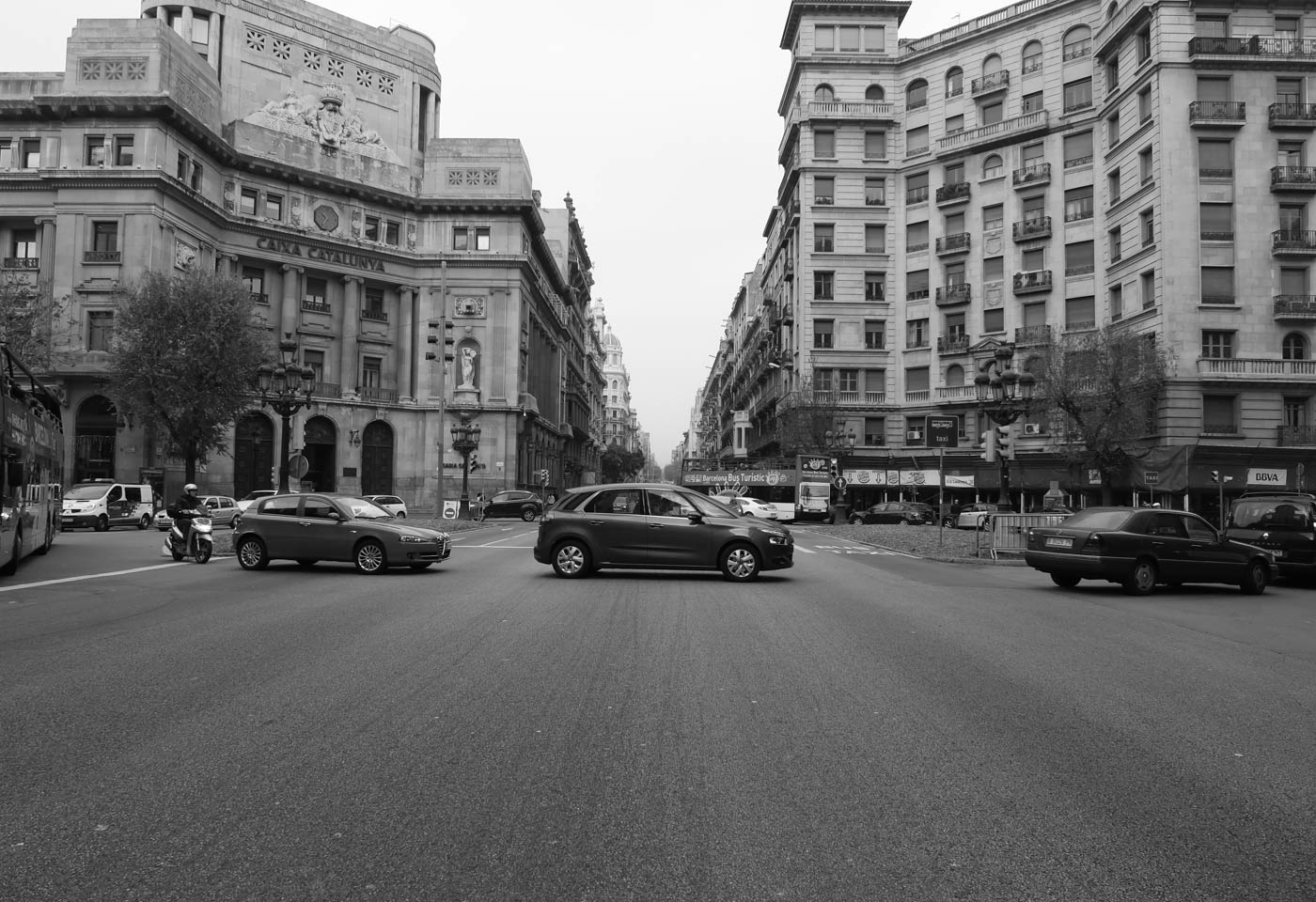 Black and white city, taken with the Canon PowerShot SX540 HS digital camera